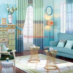 Màn vải chống nắng màu xanh tự nhiên