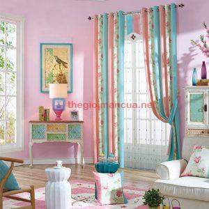 Rèm vải đẹp phối màu Hàn Quốc