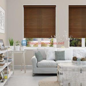 Mành gỗ tự nhiên phòng khách giá rẻ