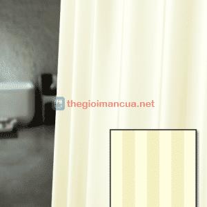 Rèm phòng tắm sọc màu kem